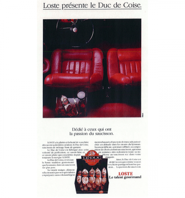 Maison Loste : lancement de la gamme Duc de Coise (1988)